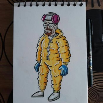 Walter White (Heisenberg) by tomcollemare