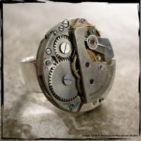 Steampunk BOLD Industrial Ring by SoulCatcher06