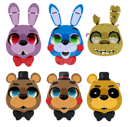 Five Nights At Freddy's: Stickers by Lynntendo-64