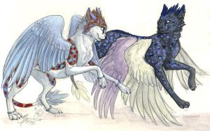 Flying Together - Mweor Comm. by Idess