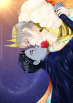 Commission : The day and the night AU - Victuuri by DianneDejarjayes
