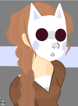 My Profile Picture (Moon in a fox mask). by Mewners