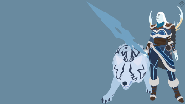 Skadi and Kaldr Minimalist Wallpaper by iTwistedSpartan