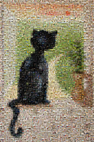 mosaic black cat by KRSdeviations