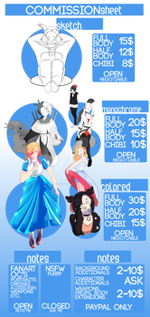 Commission Sheet (AUGUST 2019)