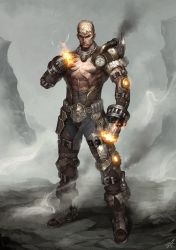 Steampunk Fighter with Exoskelton by reaper78