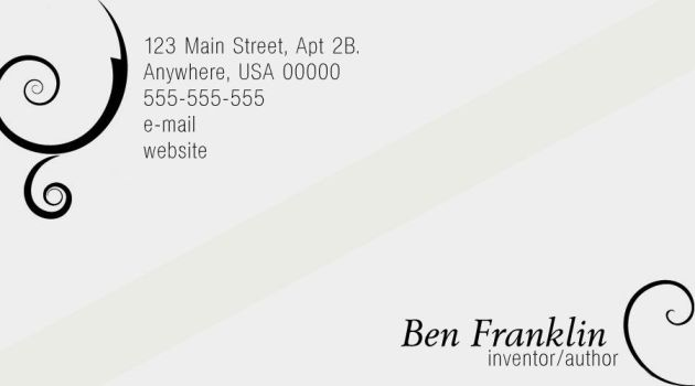 'Elegance' Business Card PSD by immortalis-stock