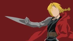 Edward Elric Wallpaper Dark Red Version by tonyp2121