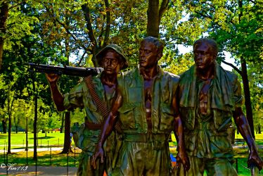 Soldier's Statue At The Viet Nam Memorial by vin113