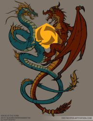 Two Dragons Tshirt design by FirstKeeper