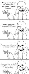 Pick-Up Lines - Sans x Frisk by androgynouscake