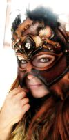 Female shaman - Leather Mask by Deakath