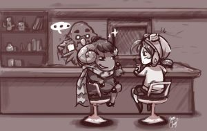 ACNL - Curlos and the Mayor by br3nna