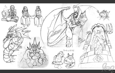 Sketch Dump Late 2011 by Omegaro