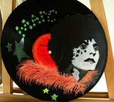 Marc Bolan on vinyl record by modastrid