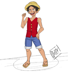 Classic Monkey D. Luffy by BILLY-RX