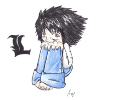 Death Note: L by kittykoolkatz