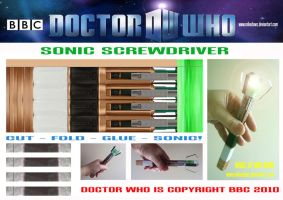 Doctor Who - Sonic Screwdriver by mikedaws