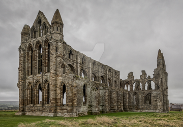 Whitby Abbey - Line Art by Wasichuwitko