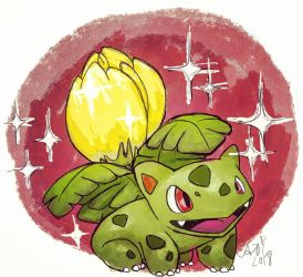 Shiny Ivysaur by cari