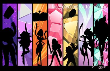 Designy Crystal Gem Fusions by racookie3