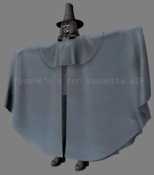 V for Vendetta WIP 11 by feeank
