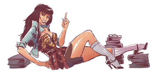 Librarian Xena by quotidia