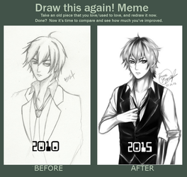 Draw This Again Meme: Touya Ouji by Ouji-Studio