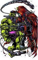 Hulk vs Spawn CollabTHESEALORD by RudyVasquez