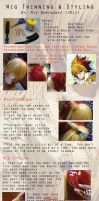 Star Driver Wig Style Tutorial by animeobsession02