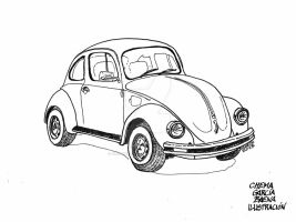 VW Beetle by ChemaIllustration