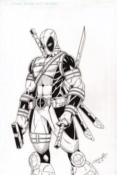 Deadpool Inked by CliffEngland