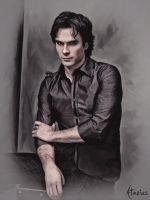 Ian Somerhalder Painting by Atavius