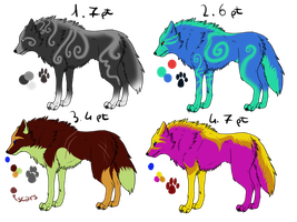 Wolves adoptables 16 _CLOSED_ by thelunapower