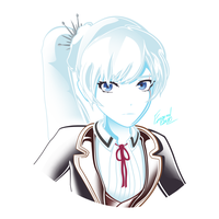 RwbyAC Day 20 | Weiss: School Uniform by Emperial-Dawn