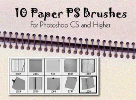 10 Paper Photoshop Brushes by fiftyfivepixels