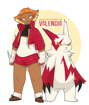 Valencia and Zangoose by Beedalee-Art