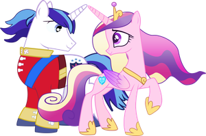 Shining Armor and Princess Cadence by Serginh