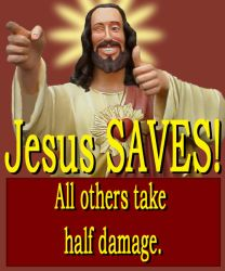 Jesus Saves by mackrafty