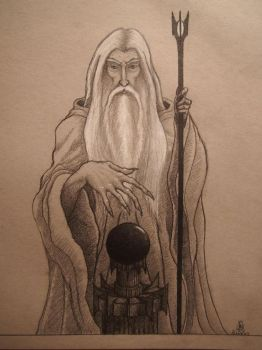 Saruman, The Lord of the Rings by Uidu-Artis