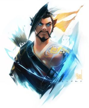 Hanzo Sketch by rossdraws