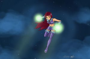 Starfire - Starbolts by dark-black-wings