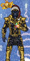 Christmas Thanos by LoganWaynee