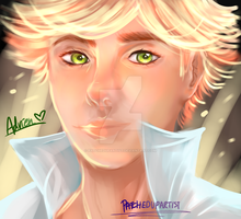 Adrien Realistic-ish drawing by PatchedUpArtist