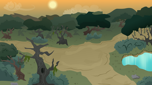 MLP Background- Forest At Dusk by EROCKERTORRES