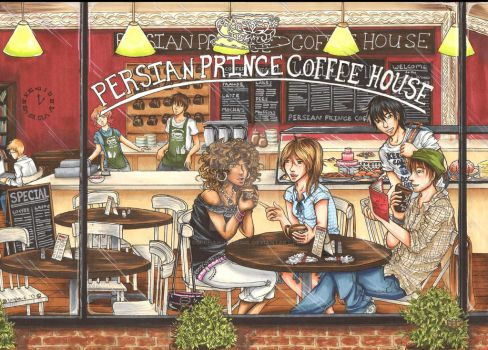 At the Persian Prince Coffee House by Tobi-chan-Lissesul