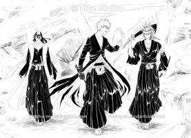 BLEACH - Byakuya Ichigo Renji by Washu-M