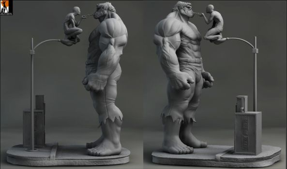 Hulkvs spidey by AYsculpture