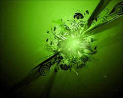 Vector-C4D Wallpaper green by Tamilia
