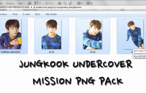 PNG PACK JUNGKOOK UNDERCOVER MISSION SCANS by souqoreans